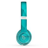 The Blue Geometric Pattern Skin Set for the Beats by Dre Solo 2 Wireless Headphones