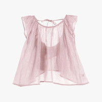 Tocoto Vintage Girls Blouse in Pink - S9915 - FINAL SALE