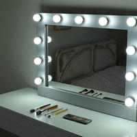 Hollywood vanity mirror with lights-Make up Mirror with lights- wall hanging mirror-Bulbs Not included