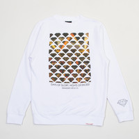 NYC Excess Crewneck Sweatshirt in White