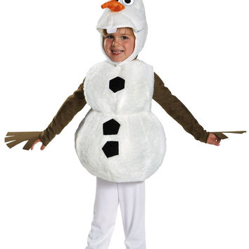 Disguise Baby's Disney Frozen Olaf Deluxe Toddler Costume White