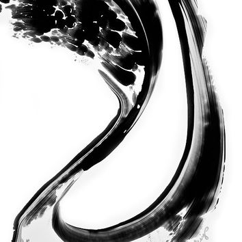 Black and White Painting BW Abstract Art Artwork High Contrast Depth Black Magic 270 Minimalism Minimalist Modern Contemporary Cummings