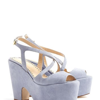 Suede Platform Sandal by Moschino Cheap & Chic