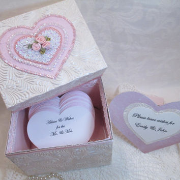Wedding Guest Book Alternative - Keepsake Box - Shabby Chic - Personalized - One-of-a -Kind