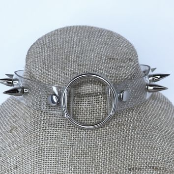 Clear Spiked Choker
