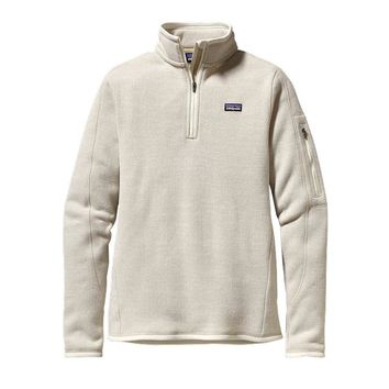 Patagonia Women's Better Sweater® 1/4-Zip Fleece Pullover | Raw Linen