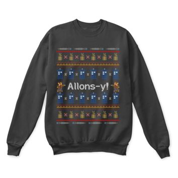 Allons-y! Tenth Doctor Who Ugly Sweater