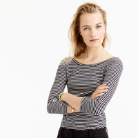Three-Quarter Sleeve Ballet T-Shirt In Stripe : Women's Tees | J.Crew