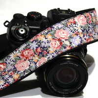 Flowers Camera Strap. dSLR Camera Strap. Canon Camera Strap. Nikon Camera Strap. Women Accessories.