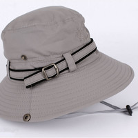 Fishing Hat Men Women Wide brim Bucket Fishing Outdoor Cap Fisherman's Bucket Washed Sun Brim Cap Wide Brim cap