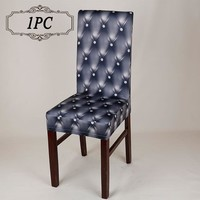 NEW 1PC Universal Stretch Polyester Spandex Printing Modern SlipCovers for Marriage Dining Kitchen Hotel Decor Chair Covers