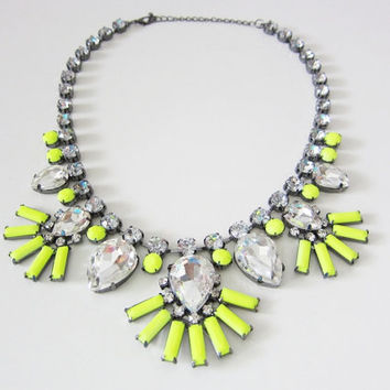 Luxe Neon Yellow Statement Necklace