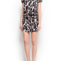 Amazon.com: Mango Women's Draped Printed Dress - Lancety2: Clothing