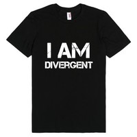 I am divergent-Unisex Black T-Shirt
