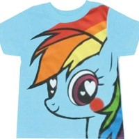 My Little Pony Rainbow Dash Hearts and Rainbows Toddler T-shirt