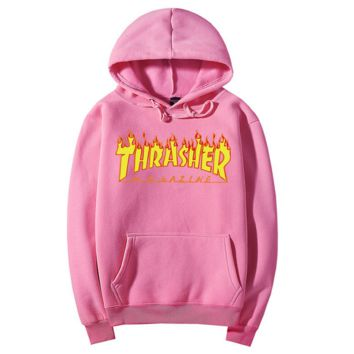 Flame hooded Sweater THRASHER Men and Women's Clothes