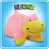Pillow Pets®  Folding Plush :: Neonz Huggable Hippo - My Pillow Pets® | The Official Home of Pillow Pets®