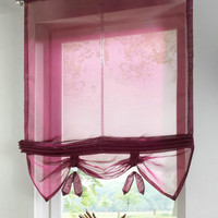 German Style Liftable kitchen balcony window curtains  Nice Sheer Voile Roman blinds  1PCS