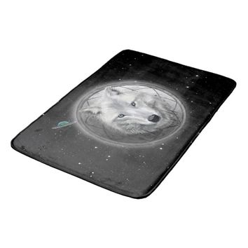 Wolf Moon Bath Mat