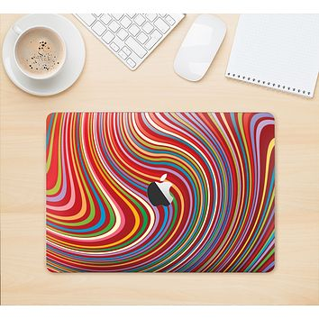 """The Vibrant Colorful Swirls Skin Kit for the 12"""" Apple MacBook"""