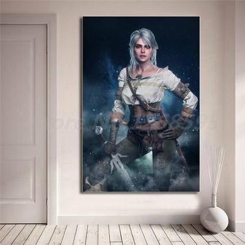 The Witcher 3 Wild Hunt Ciri Wallpaper Canvas Painting Print Living Room Home Decor Modern Wall Art Oil Painting Poster Artwork