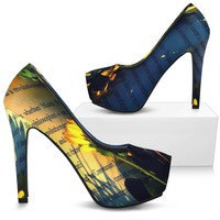 Open Page Letter Woman's High Heel Shoes