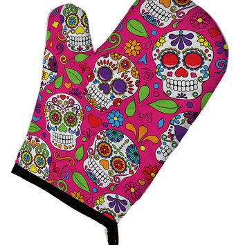 Day of the Dead Pink Oven Mitt BB5115OVMT