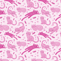 Pink Playful Kittens - noondaydesign - Spoonflower