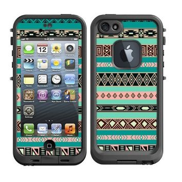 Skins Kit for Lifeproof iPhone 5 Case (skins/decals only) - Aztec Pattern Print Indian Tribal Style