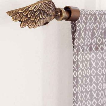 Plum & Bow Wing Finial Set