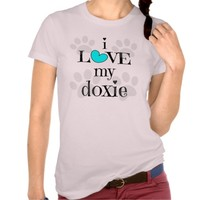i LOVE my doxie, paw prints & hearts