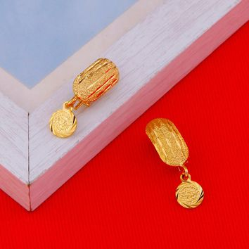 Africa Coin Earrings For Women Girl Gold Color Small Dubai Metal Coins Earrings Arab Middle Eastern Jewelry