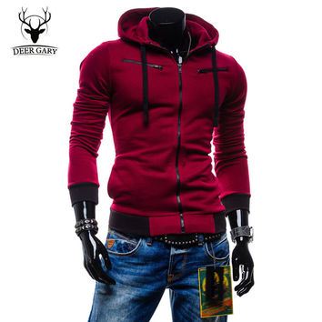Autumn Cardigan Men Hoodies Jacket Brand Clothing Fashion Hoodies Man Casual Slim Hoody Sweatshirt Sportswear Zipper Hoodie