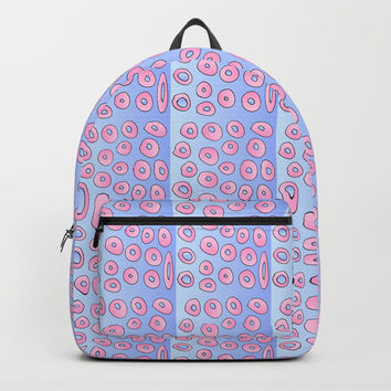 pink polka dot 2- polka dot,pattern,dot,polka,circle,disc,point,abstract,minimalism Backpack by oldking
