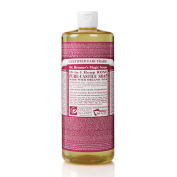 Dr Bronner's Organic Rose Castile Liquid Soap 946ml