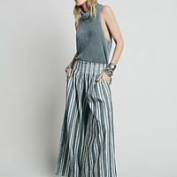 Free People Womens Krissy Smocked Washed Pant