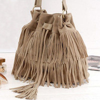 Suede Fringed Purse