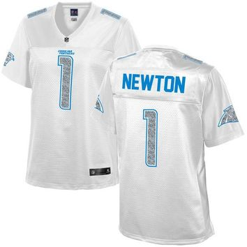 Women's Carolina Panthers Cam Newton NFL Pro Line White Out Fashion Jersey