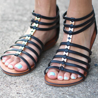 Be a Rebel Sandals {Black}
