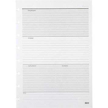 """M by Staples™Arc System Undated Premium Refill Paper, White, 5-1\/2\"""" x 8-1\/2\"""" 