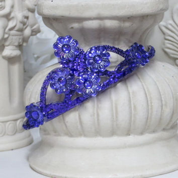 Purple Princess - Girls Headband  - Princess Headband - Birthday Present - Purple Hair Accessories - Crown Headband - Girls Party