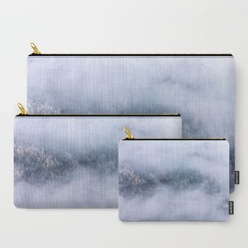 Beneath The Fog Carry-All Pouch by Mixed Imagery