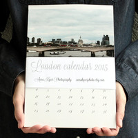 2015 calendar London calendar 2015 wall calendar London print christmas present monthly calendar London art 5x7 8x11 A4 calendar