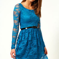 Tessa Lace Belted Dress