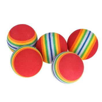 5pcs Rainbow Golf Balls EVA light weight and flexible Practice Golf Ball Swing Practice Training Aids