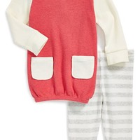Infant Girl's Stem Baby Organic Cotton Waffle Knit Bubble Dress & Leggings