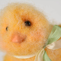Handmade decorative felted doll interior toy cute doll present for kids