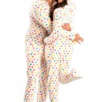 Green Diva Dots Hoodie - Hooded Footed Pajamas - Pajamas Footie PJs One Piece Adult Pajamas - JumpinJammerz.com