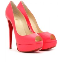 mytheresa.com -  Christian Louboutin - LADY PEEP 150 PLATFORM PUMPS - Luxury Fashion for Women / Designer clothing, shoes, bags