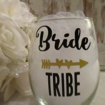 Bride Tribe DIY DECAL ONLY ~ Personalized Sticker with Heart Arrow Name Date ~ Bachelorette Party Favors ~ Yeti Tumbler Monogram ~